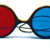 Rood/Blauw Computer Bril - Reversible Model (Elastisch)