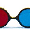 Rood/Blauw Computer Bril - Reversible Model