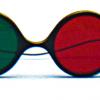 Rood/Groen Bril - Reversible Model Child Sized (elastisch)