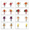 Bernell-O-Scope 3D Character Base-In Card Set (white)